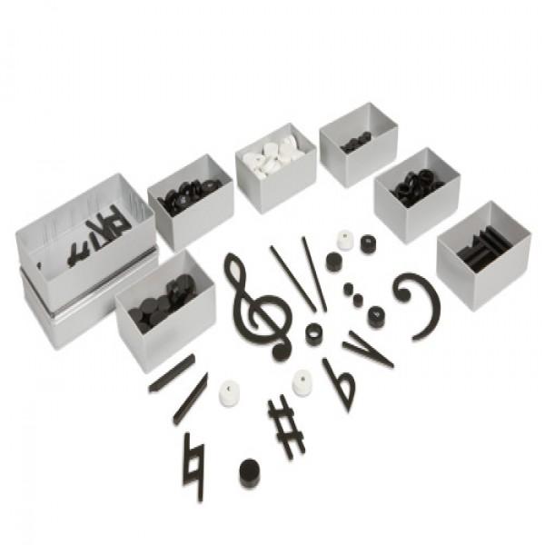 Bộ học cụ gồm các kí hiệu âm nhạc