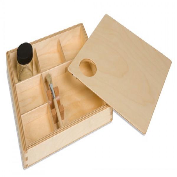 Hộp gỗ và keo dán