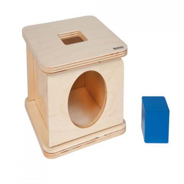 Hộp gỗ vuông kèm khối vuông xanh dương