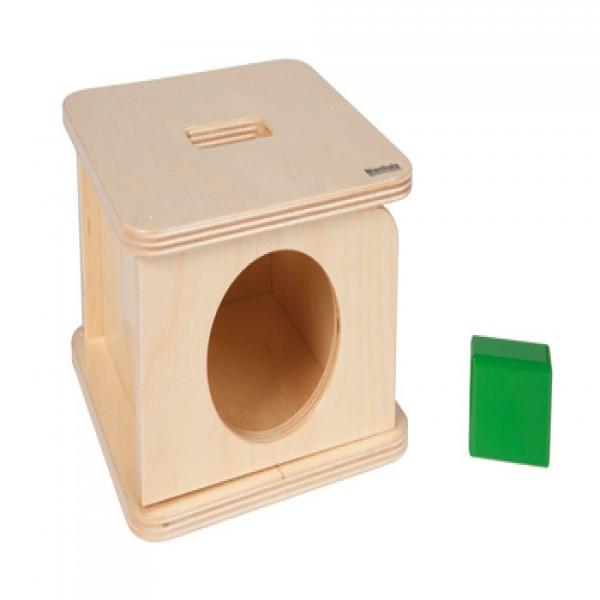 Hộp gỗ vuông kèm khối chữ nhật màu xanh lá