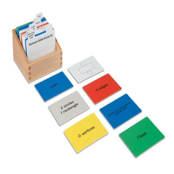 Bộ thẻ bài tập cho các khối hình học