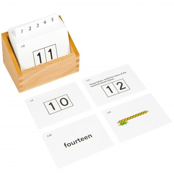 Bộ thẻ hỗ trợ bảng học đếm từ 11-19