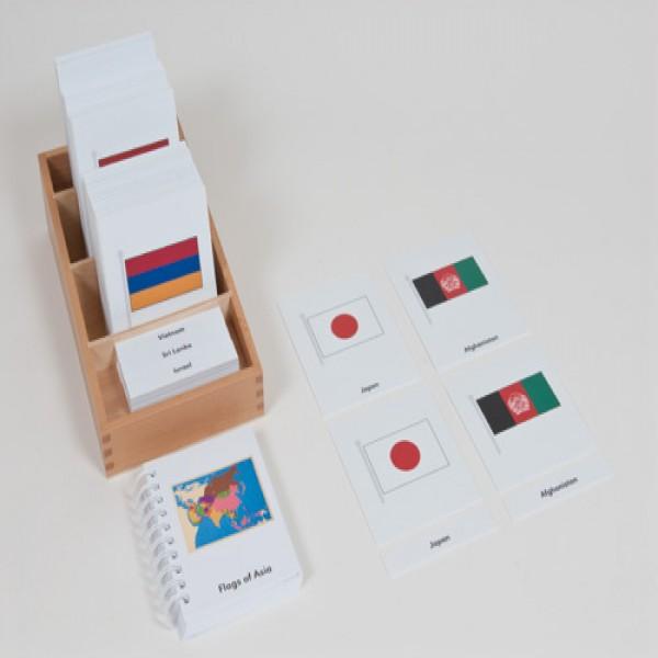Bộ thẻ cờ các nước Châu Á
