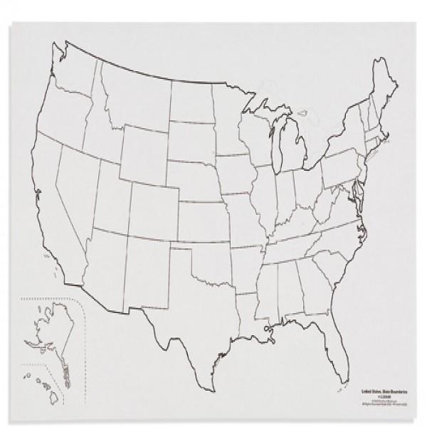 Bản đồ nước Mĩ: Đường biên giới quốc qia