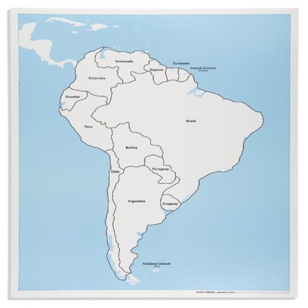 Bản đồ Nam Mĩ: Đã dán nhãn
