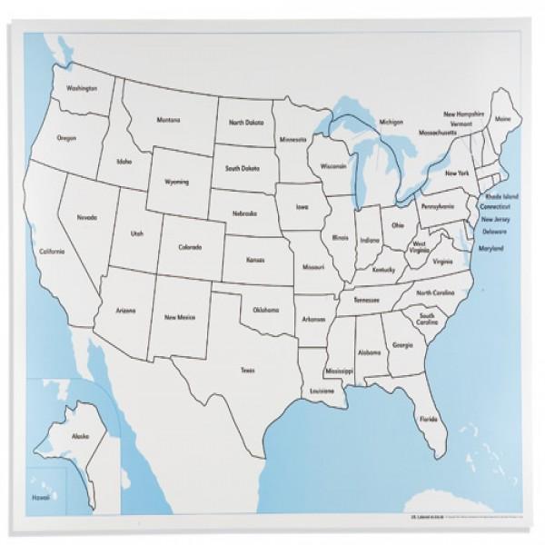 Bản đồ nước Mĩ: Đã dán nhãn