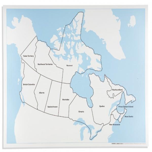 Bản đồ Canada: Đã dán nhãn
