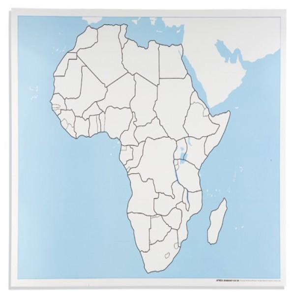 Bản đồ Châu Phi: Chưa dán nhãn