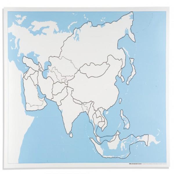 Bản đồ Châu Á: Chưa dán nhãn