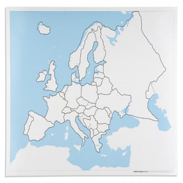 Bản đồ Châu Âu: Chưa dán nhãn