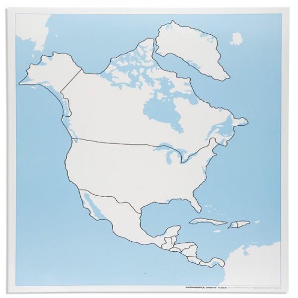 Bản đồ Bắc Mĩ: Chưa dán nhãn