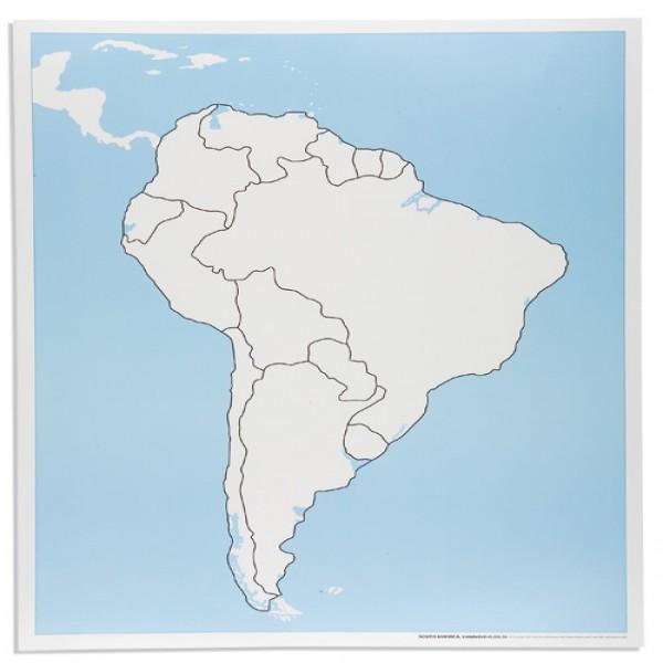 Bản đồ Nam Mĩ: Chưa dán nhãn