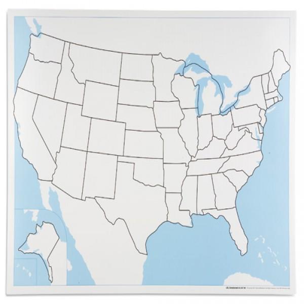 Bản đồ nước Mĩ: Chưa dán nhãn
