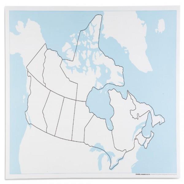 Bản đồ Canada: Chưa dán nhãn