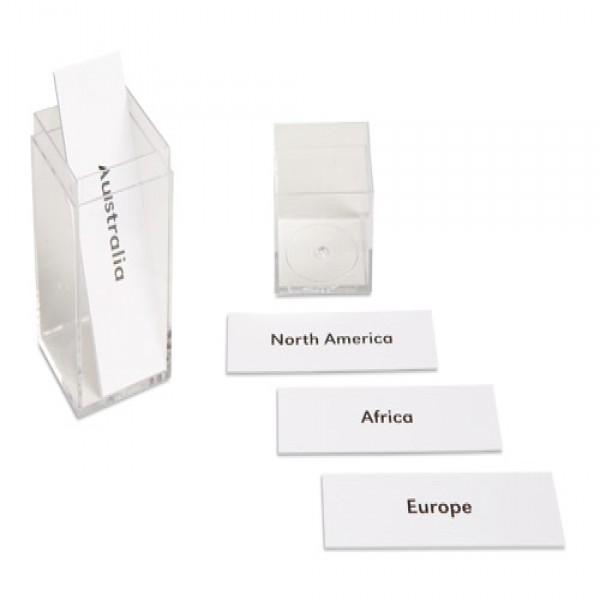 Bộ nhãn dán tên các châu lục