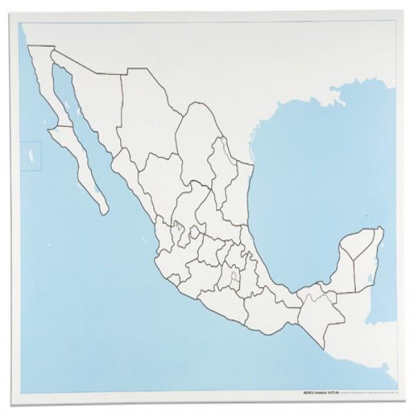 Bản đồ Mexico: Chưa dán nhãn