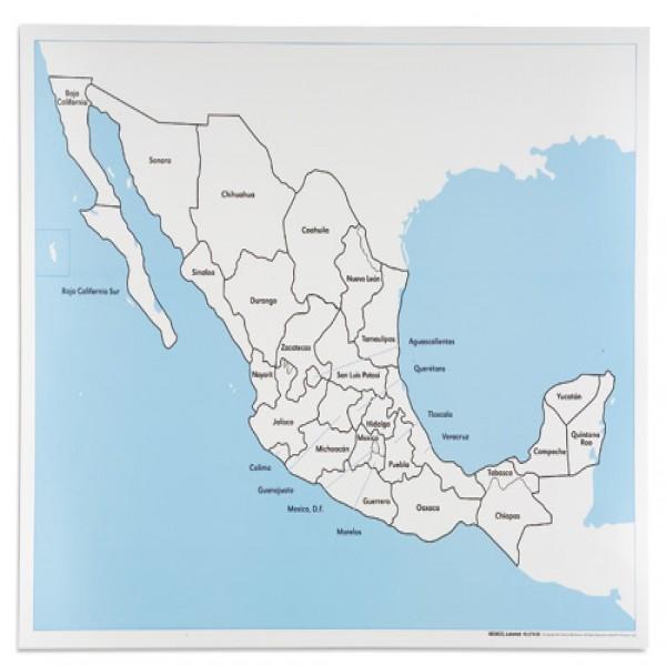 Bản đồ Mexico: Đã dán nhãn