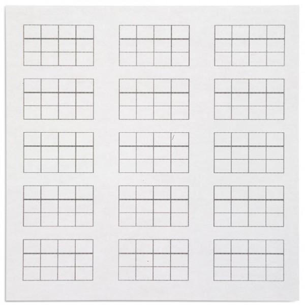 Giấy hỗ trợ trò chơi tem- 15 hình chữ nhật trên giấy